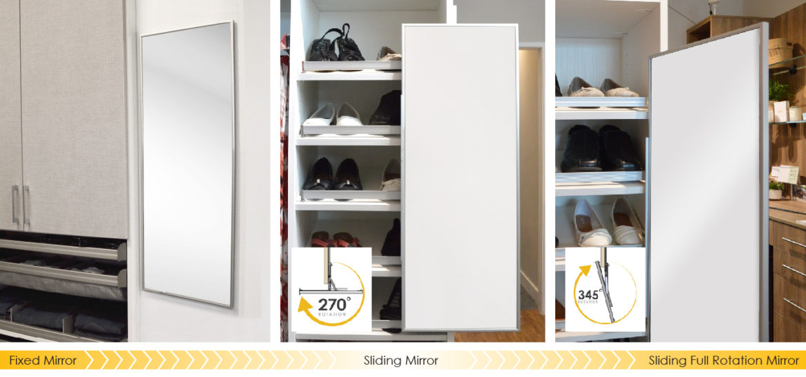 The Addition Of A Mirror In Your Closet Space Ensures Youu0027re Starting Your  Day Off Right! It Can Also Bring A Little Light Into Otherwise Dark Areas,  ...